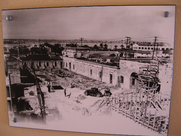 Image shows original construction of the police headquarters in 1939.