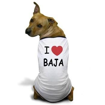 A fun I love Baja dog t-shirt!