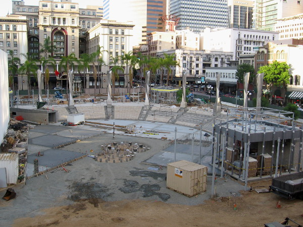 Horton Plaza Park is making great progress by the beginning of October 2015.
