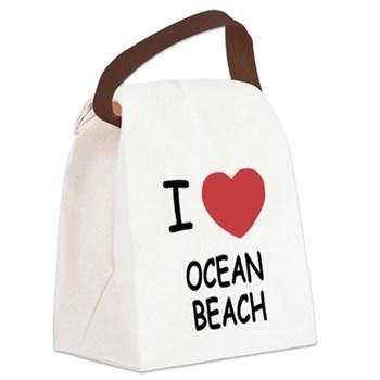 I love Ocean Beach canvas lunch bag.