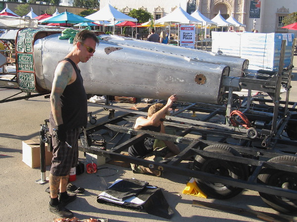 Robot Resurrection is being assembled for the Maker Faire in Balboa Park this weekend!