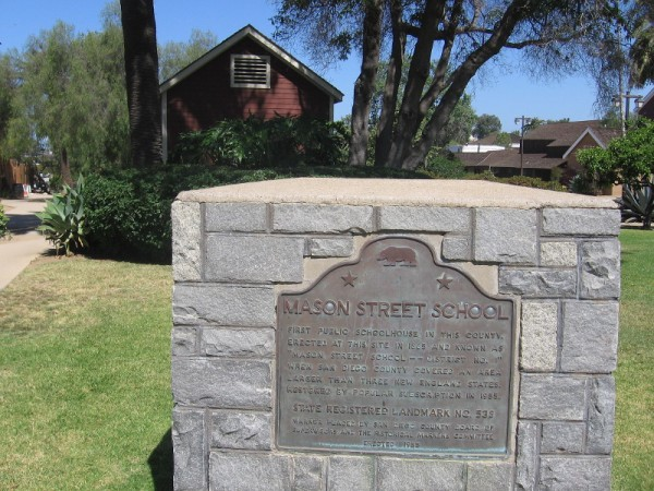 The first schoolhouse in San Diego County, the Mason Street School stands in historic Old Town.