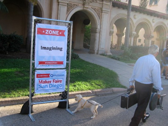 Maker Faire San Diego will include many cool sights up and down El Prado, including the Imagining Zone!