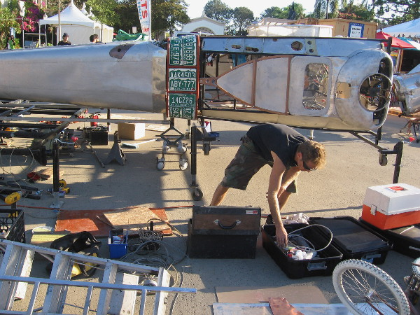 Getting a giant robot ready to thrill thousands at Maker Faire.