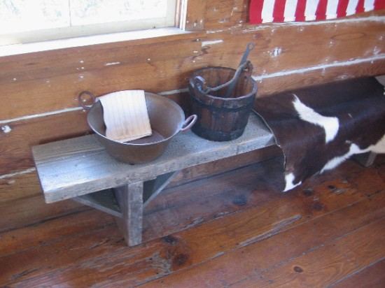 Water for washing and drinking was brought in from a well near the schoolhouse.
