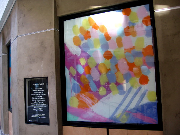 Fun artwork on display in downtown San Diego's popular Horton Plaza shopping mall.
