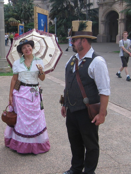 Here are some members of the cool group engaged in steampunk cosplay!