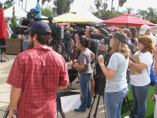 I couldn't believe how much press was gathered for the event. If you live in San Diego, I'm sure you'll see it on the television news!