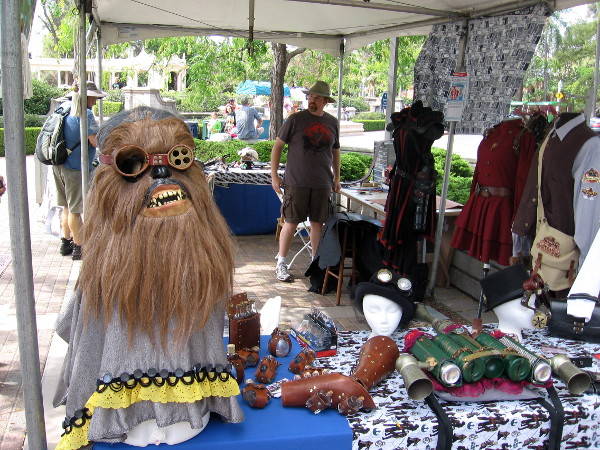 A costume zone near the Japanese Friendship Garden had stuff that looked like Star Wars steampunk! Chewbacca is wearing some goggles!