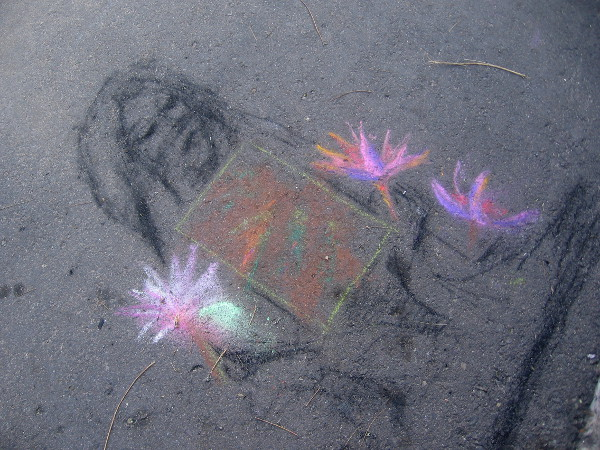 A bit of random chalk art on the street near the official Festa competition entries.