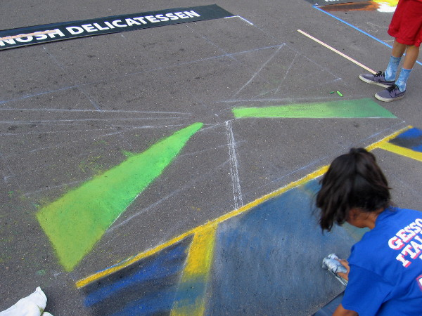 Campo Elementary. These gifted students won first place last year! What will this chalk art creation be?