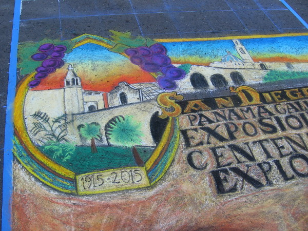 Kira Lewis-Martinez. More cool chalk art with a nostalgic feel. The Panama California Exposition marked Balboa Park's debut in 1915.