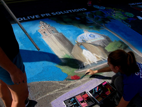 San Pasqual High School. Classic images from Balboa Park rendered using simple, colored chalk. Fantastic!