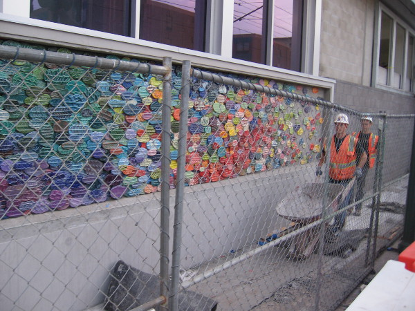 There's some unusual, colorful new artwork at the Little Italy trolley station in downtown San Diego!