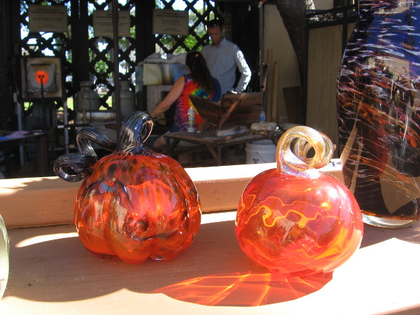 The glassblowers were making beautiful pumpkins. There's nothing very spooky here, right?