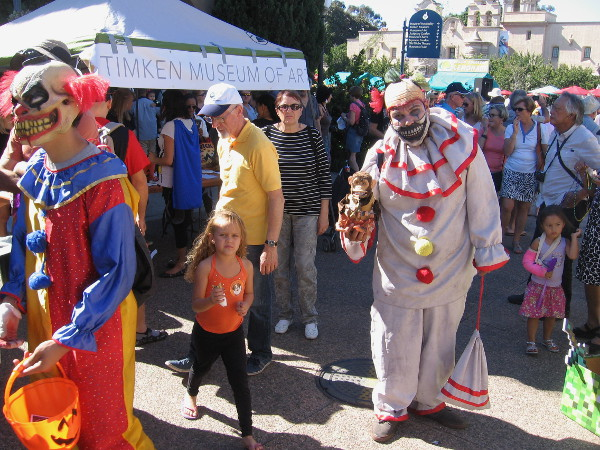 Oh, no! Here come the evil clowns! Now we asked for it!