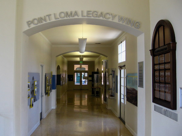 The Point Loma Legacy Wing at the NTC Command Center contains two walls of fascinating displays concerning this area's history.