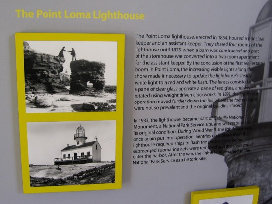 The Point Loma lighthouse, erected in 1854, housed a principal keeper and an assistant keeper. In 1933, the lighthouse became part of Cabrillo National Monument and was restored.