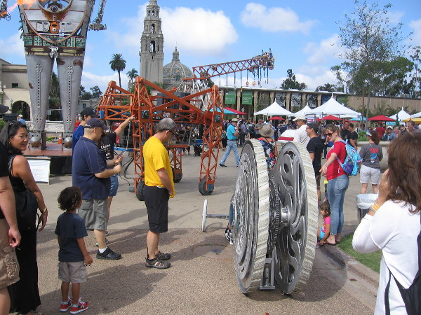 San Diego's first ever Maker Faire is a huge success. There are so many cool things to see, your eyes will pop clean out of your head!