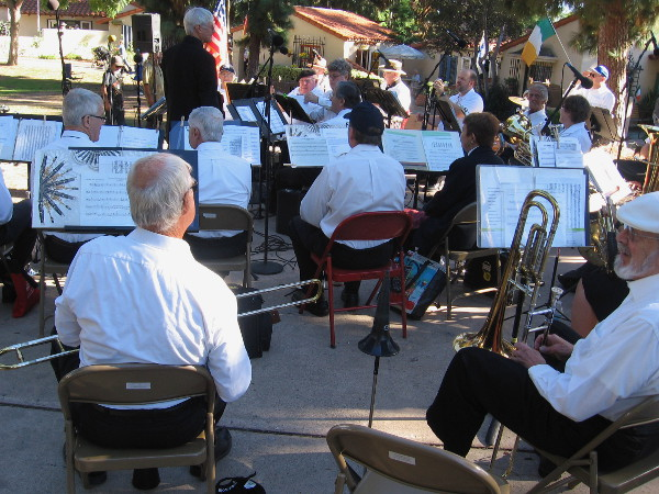 City Guard Band of San Diego plays during a special Veteran's Day program. The band originated in 1880, when members were part of a local volunteer militia.