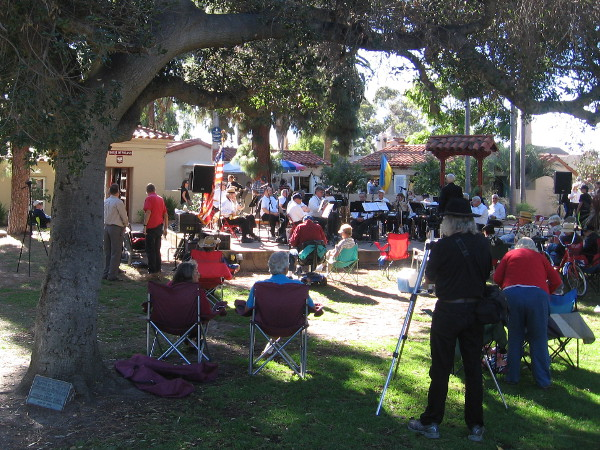A small Veteran's Day gathering in Balboa Park's friendly House of Pacific Relations International Cottages.