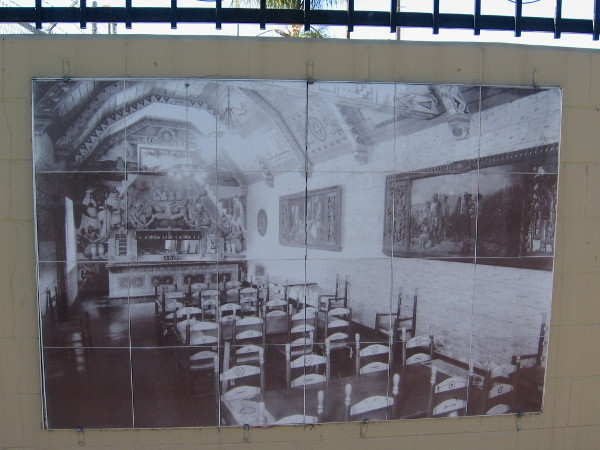 Aztec Brewery Art Ensemble adorned the ceiling and walls of the Rathskeller and Beer Tasting Room of the brewery in the early to mid 1900s on Main Street.