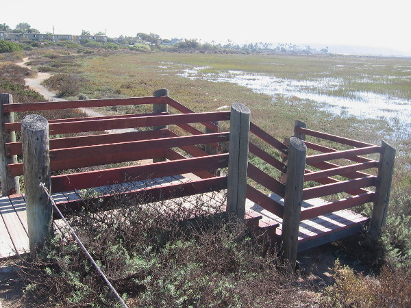 Steps lead down from Imperial Beach Boulevard to one of many trails in the fascinating, life-filled estuary.