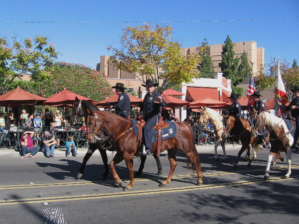 These friendly guys on horseback are from the El Cajon Mounted Police.