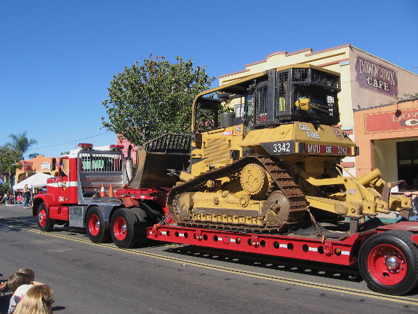 Cal Fire had a huge bulldozer in the parade! Wildfire poses a big threat to San Diego's East County neighborhoods.