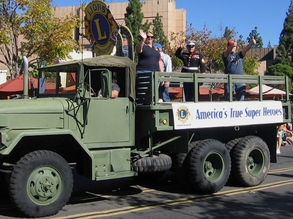 The Lions Club showcased America's true super heroes--those who serve to defend our freedom.