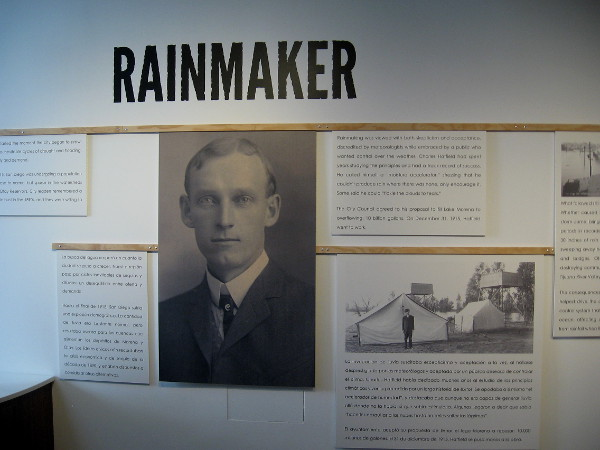 Charles Hatfield, self-proclaimed rainmaker, was hired by the city of San Diego in 1915 to fill Lake Morena Reservoir during a severe drought. Record rain and floods ensued. Was this a coincidence?