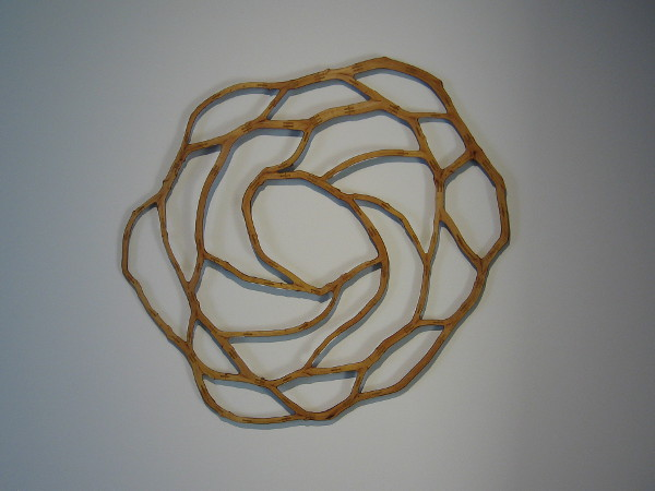 Roman de Salvo, Joinery Blossom, 2013. Chinese elm, glue. Metaphor of Earth's ecosystem, with networks of family, community, interdependence.
