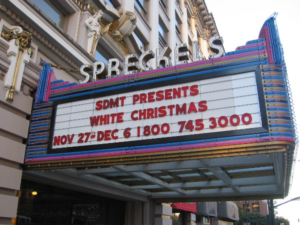 White Christmas opens Friday at the Spreckels Theatre.