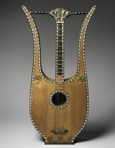 Lyre Guitar, early 19th century. The Crosby Brown Collection of Musical Instruments, 1889. The Metropolitan Museum of Art.