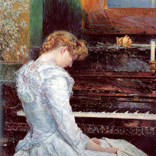 Childe Hassam, The Sonata, 1893. Nelson-Atkins Museum of Art.