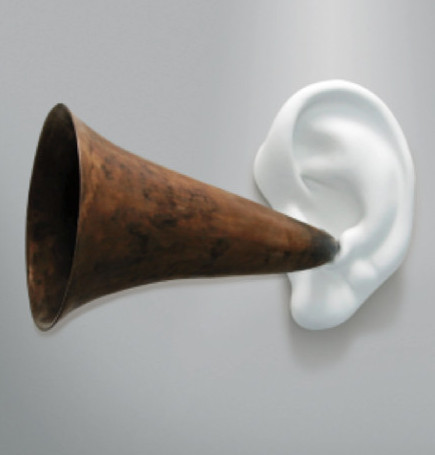 John Baldessari, Beethoven's Trumpet (with Ear) Opus #127, 2007. Beyer Projects.