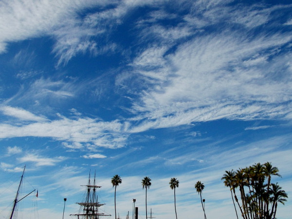 Amazing clouds above San Diego's Embarcadero.