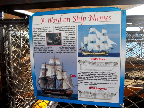 The ship you are about to board was originally built as a replica of the British 24-gun frigate Rose of 1757. HMS Rose played a role in the American Revolution and was sunk in Savanna harbor in 1779.