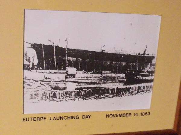 A very old photo of Star of India's launching day in 1863. Originally it was named Euterpe.