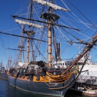 Photos aboard Master and Commander's HMS Surprise.
