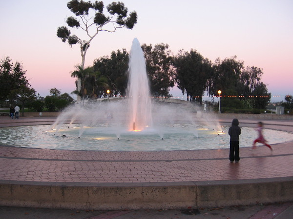 Kids play by fountain in San Diego's crown jewel, Balboa Park, one of the world's great cultural treasures.