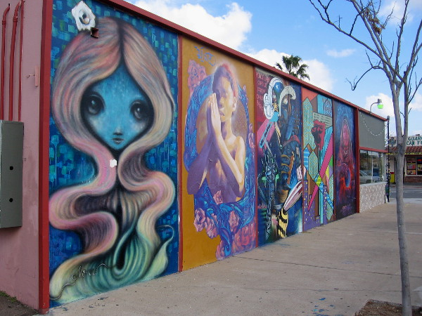 Super cool mural in North Park at 30th and Gunn Cool San Diego