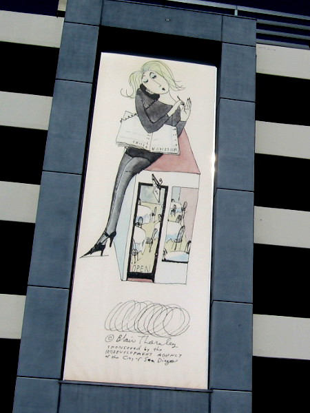 This one seems to depict a restaurant hostess taking a call while sitting atop her workplace.