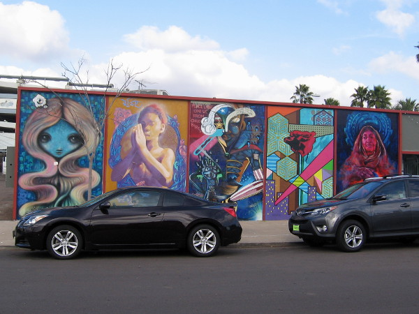 Cool street art at 30th and Gunn, part of the North Park Mural Project.