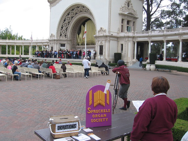 Even the Spreckels Organ Society volunteers were singing along!