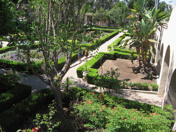 A view of the Alcazar Garden from above.