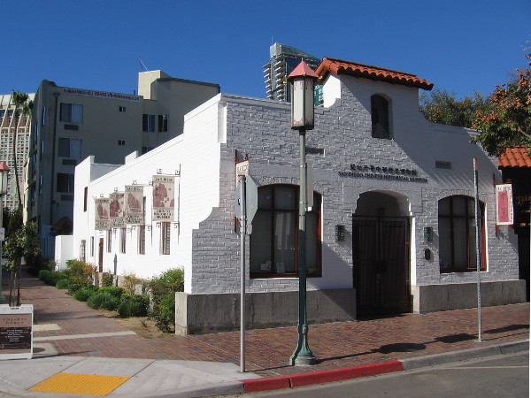 The San Diego Chinese Historical Museum in the Asian Pacific Thematic Historic District. The Chinese Mission Building, built in 1927, was moved in 1996 to its present location at 404 3rd Avenue.