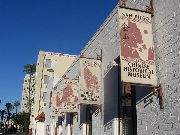 Banners along side of downtown's San Diego Chinese Historical Museum.