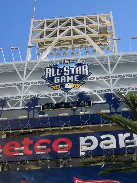 Baseball's All-Star Game is coming next summer! A few signs have popped up around Petco Park many months in advance. It's going to be fun!