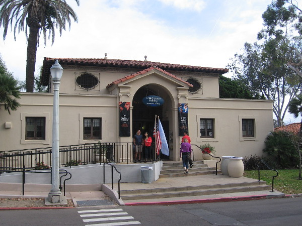 People visit the United Nations Building, at Balboa Park's unique House of Pacific Relations International Cottages.